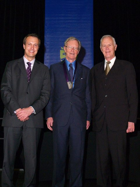 President David B. Smith, Dr. Donald Sobey, and The Hon. John Hamm